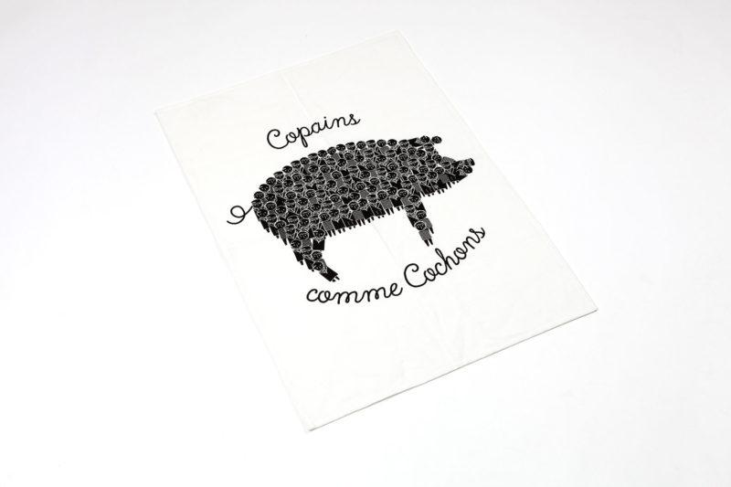 Torchon Copains comme Cochons